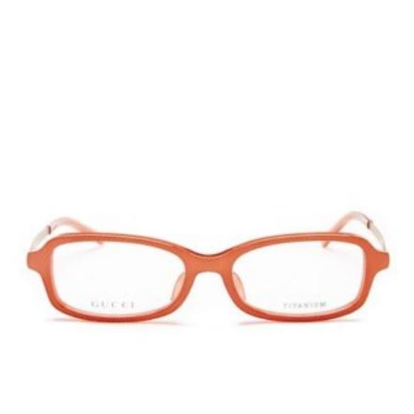 Gucci Accessories | Gg9107j Rectangular Eyeglass Frames Copper ...